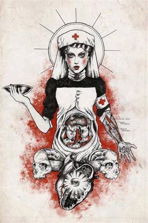 tattoo flash nurse gore illustration buscar con google tattoo ideas