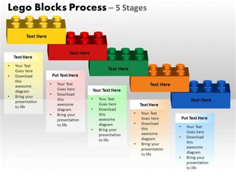 Powerpoint Template Process Lego Blocks Process Ppt Slides Process Template Powerpoint
