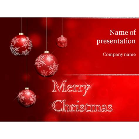 christmas powerpoint template background for presentation