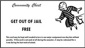 free card template 187 monopoly get out of free card