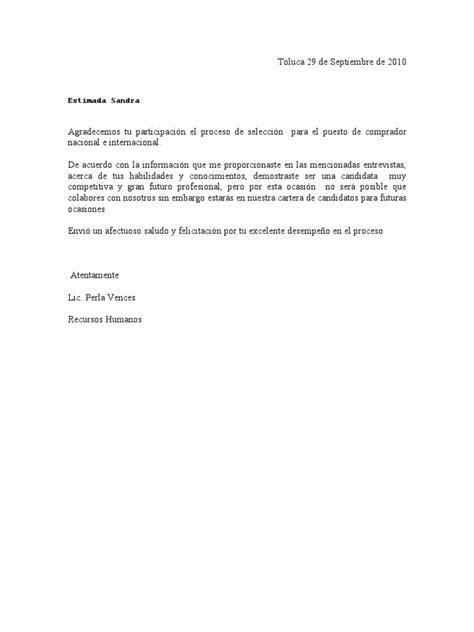 carta agradecimiento candidato