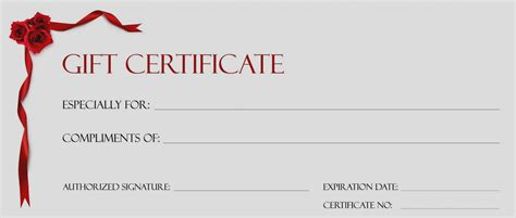 free birthday gift certificate template formal word templates