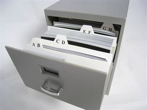 Business Card File Cabinet by Mini Business Card File Cabinet From Thinkgeek