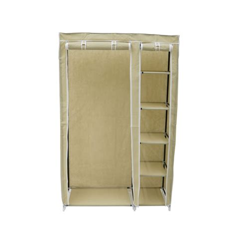 Wardrobe Hanging Storage by Canvas Wardrobe Clothes Rail Hanging Storage