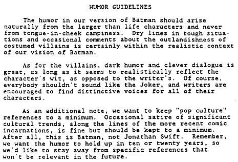 The Batman The Animated Series Writer S Guide Is Totally Awesome Tv Show Treatment Template