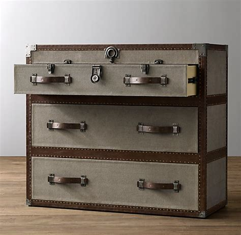 Steamer Trunk Dresser by Antique Steamer Trunk Dresser