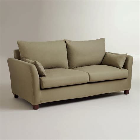 sage loveseat sage luxe sofa slipcover world market
