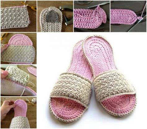 how to crochet slippers flip flop crochet slippers free pattern tutorial