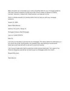 mortgage letter templates hardship letter how to write a hardship letter