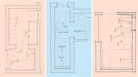 bathroom floorplans inspirational narrow bathroom floor plans house floor ideas