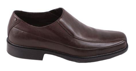 rockport frasha mens brown leather slip on moccasin