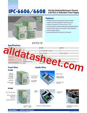 all sections of ipc ipc 6608bp 30ce datasheet pdf advantech co ltd