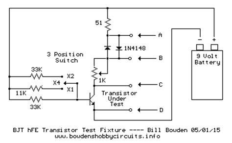 bjt transistor testing bjt transistor hfe test fixture
