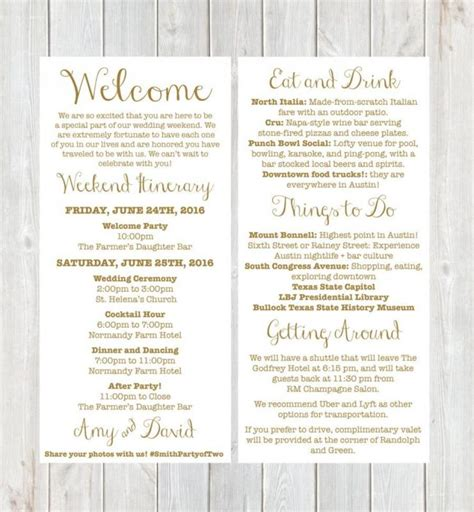 destination wedding itinerary template wedding weekend itinerary template template business
