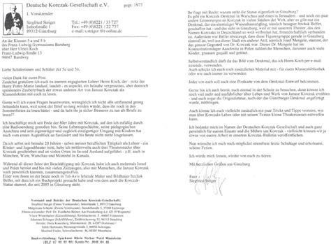 Mit Freundlichen Grüßen Brief Englisch Janusz Korczak Quot Kaitus Oder Antons Geheimnis Quot Unterrichtseinheit