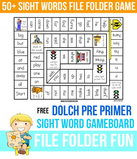 printable sight word board games crazy coupon critter free sight word gameboard