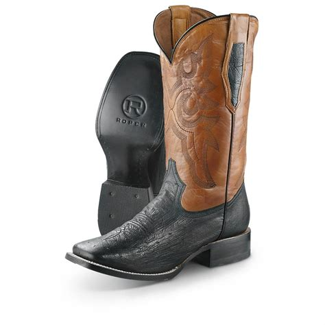 toe cowboy boots for s roper square toe cowboy boots black 607482