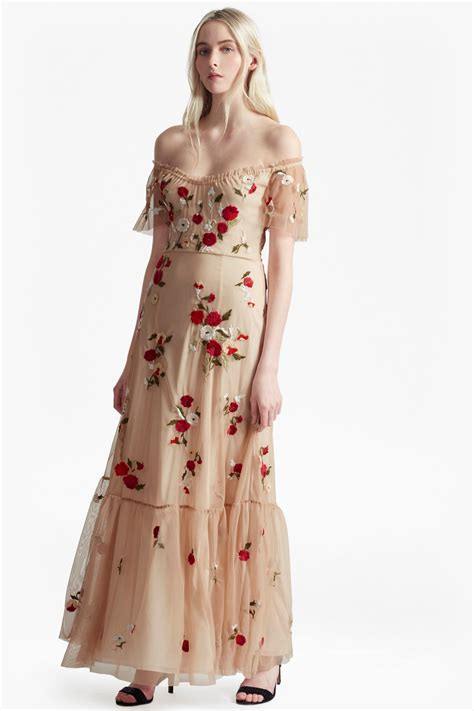 Embroidered Maxi Dress viola stitch floral embroidered maxi dress collections