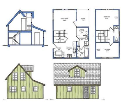 tiny house blueprints small courtyard house plans small house plans with loft bedroom tiny home plan mexzhouse com