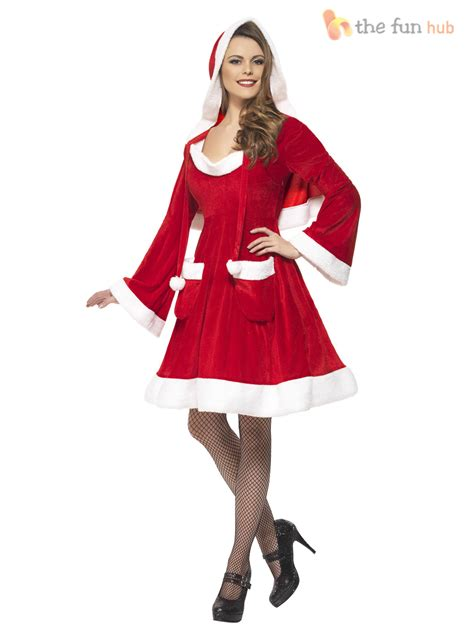 size 8 22 adult ladies miss santa costume womens christmas