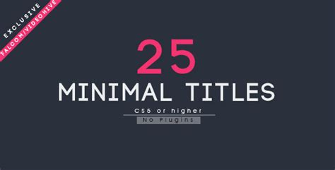 after effects template title cards free 25 minimal titles by falcom videohive