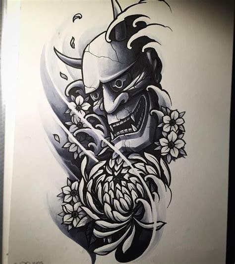 Tattoo Oriental Hanya | 25 best ideas about hannya mask tattoo on pinterest oni