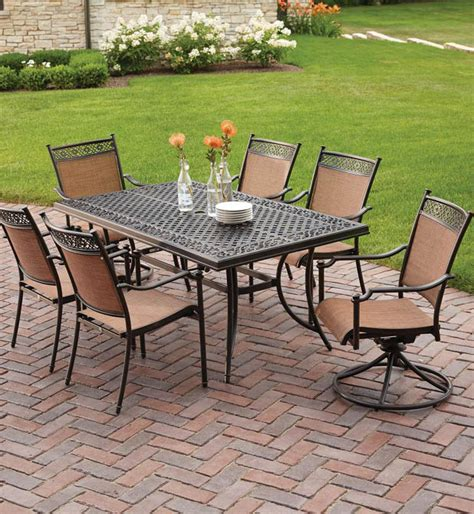 Sling Patio Dining Set Hton Bay Niles Park 7 Sling Patio Dining Set S7 Adh04300 The Home Depot