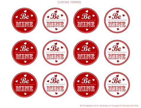 valentine cupcake toppers valentine party printables by