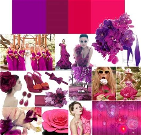 hot pink themes whimsical wedding colors deep purple hot pink onewed