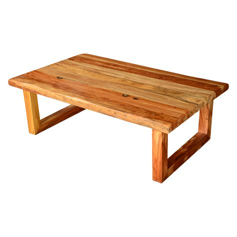 Rustic Wood Coffee Tables by Modern Rustic Simplicity Acacia Wood 51 Quot Coffee Table