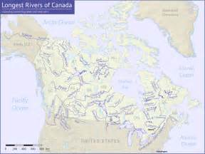us and canada map with rivers list of rivers of canada