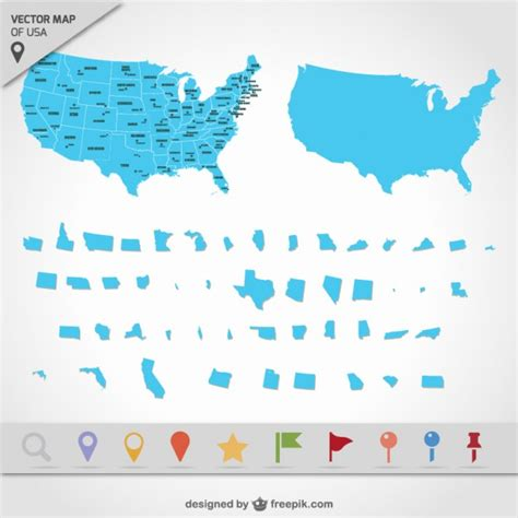 map usa vector usa map states vector free