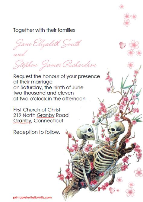 halloween wedding invitation till death do us part