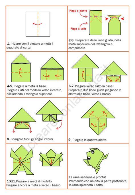 origami istruzioni fiori origami rana salterina scopri come realizzarla
