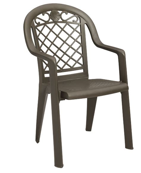 high back resin chairs grosfillex bronze mist high back synthetic metal
