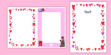 Template Valentine Day Card editable s day card insert template editable