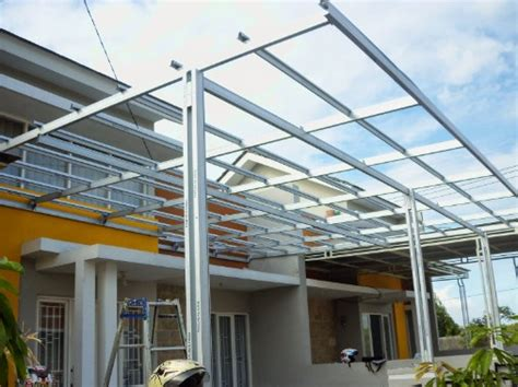 berbagai bentuk model atap rumah dan jenis material harga kanopi baja ringan per meter persegi 2018