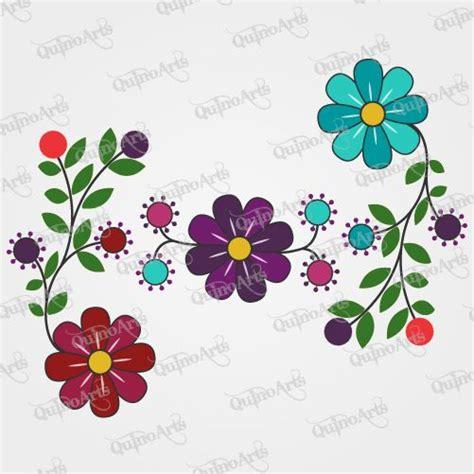 imagenes flores vectorizadas vector flores bordado ayacuchano tejidos peruanos