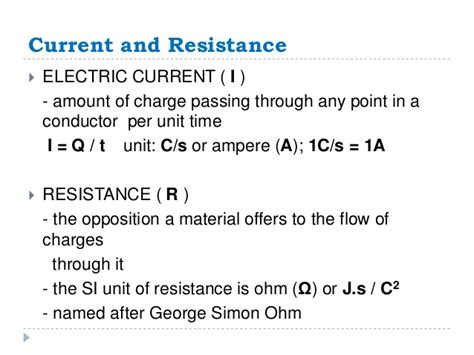 si unit of electric resistance is 19 ohm s