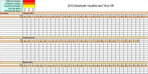 6 vacation calendar template procedure template sle