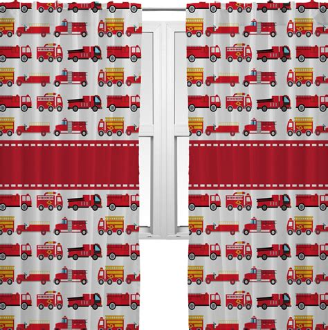 fire truck curtains firetrucks curtains 2 panels per set personalized