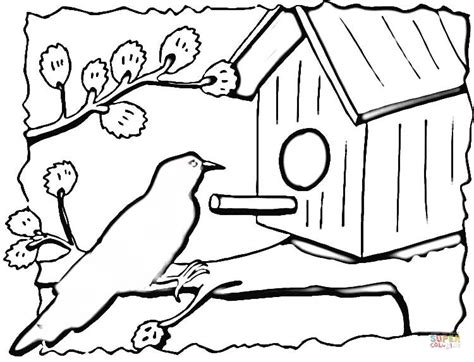 coloring pages bird houses birdhouse coloring page free printable coloring pages