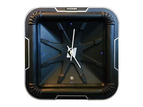 kicker lclock  subwoofer style led clock black