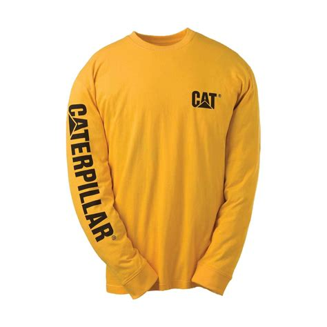Kaos Sleeve Caterpillar Yellow caterpillar c1510034 trademark t shirt sleeve cotton ebay