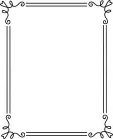 simple elegant black frame 2 free clip art