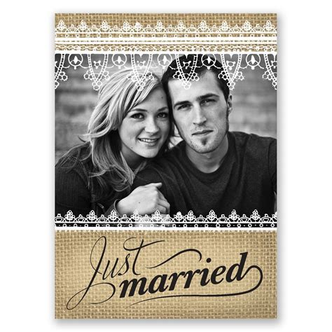 Wedding Announcements With Photos by Just Married Wedding Announcement Postcard Invitations