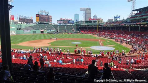 section 6 baseball fenway park section 24 grandstand infield seating view at