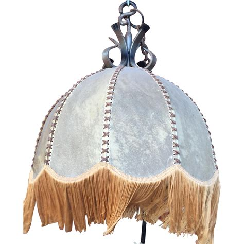 leather chandelier vintage leather shade hanging l fixture chandelier from