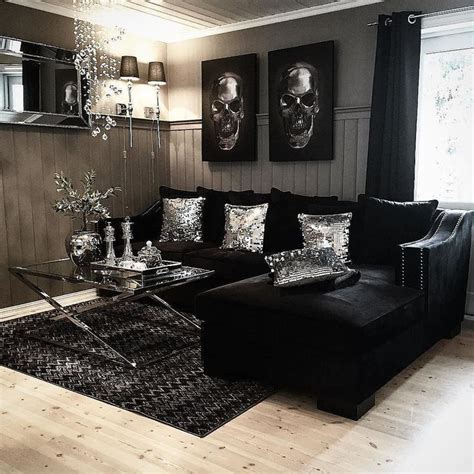 Black White Gray Curtains Decorating Living Room Room Set Black And White Home Decor All Black Living Room Grey Living Room Sets