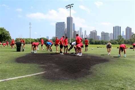 2m lincoln park soccer field torched likely by fireworks